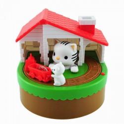 Κουμπαράς Γάτα και Ποντίκι με κινηση και ήχο