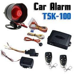 Πλήρες Σύστημα Συναγερμού Αυτοκινήτου Με Σειρήνα, Αντικραδασμικό Και Κεντρικό Κλείδωμα TSK-100