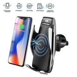 Ασύρματος Φορτιστής Με Αυτόματο Κλιπ & Βάση Στήριξης Τηλεφώνου – Smart Sensor Car Wireless Charger