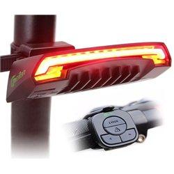Οπίσθιο Ασύρματο Φανάρι Laser Ποδηλάτου Επαναφορτιζόμενο με USB & Φλας με Χειριστήριο στο Τιμόνι