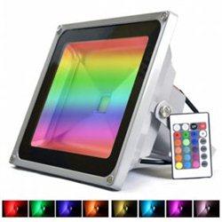 RGB LED Προβολέας 30W Αδιάβροχος με Τηλεχειρισμό & Εναλλασσόμενο Πολύχρωμο Φωτισμό OEM-4130