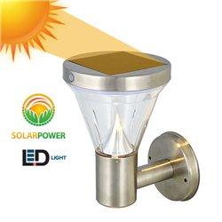 Αδιάβροχο Ηλιακό Solar Φωτιστικό Τοίχου LED Με Αισθητήρα Νυκτός – OEM