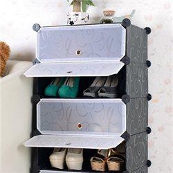 Συναρμολογούμενη Πλαστική Παπουτσοθήκη 4 Χώρων – Combination Cabinet