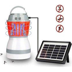 Αδιάβροχος Ηλιακός Εξολοθρευτής Κουνουπιών – Εντόμων & Φωτιστικό LED Camping – Δωματίου – Solar Led Light Kill Pest 2 in 1
