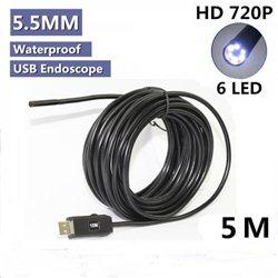 Ενδοσκοπική USB 5.5mm 5m Kάμερα με Μαγνητικό 'Αγκιστρο LED – OEM – OT106