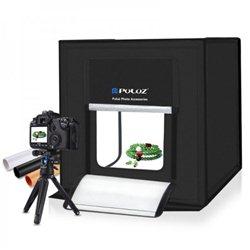 Μίνι Αναδιπλούμενο Στούντιο Φωτογράφισης Studio Box PULUZ 40x40cm με Ενσωματωμένα LED