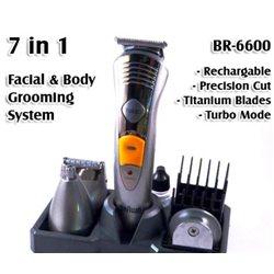 Σετ Κουρευτικής και Ξυριστικής Μηχανής για Μαλλιά και Γένια 7 σε 1 BR6600