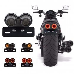 Διπλό Πίσω Φανάρι Μοτοσυκλέτας – Μηχανής – LED Φώτα Πορείας/ Φλας/ Φρένο – OEM