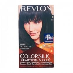 Βαφή Χωρίς Αμμωνία Colorsilk Revlon Μαύρο