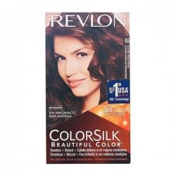 Βαφή Χωρίς Αμμωνία Colorsilk Revlon Καστανό χάλκινο χρυσό