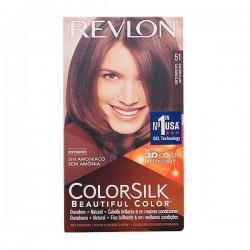 Βαφή Χωρίς Αμμωνία Colorsilk Revlon Ανοικτό καφέ