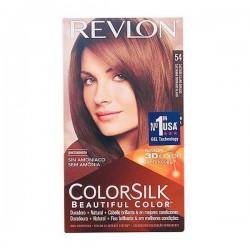 Βαφή Χωρίς Αμμωνία Colorsilk Revlon Ανοικτό χρυσό καφέ
