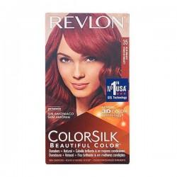 Βαφή Χωρίς Αμμωνία Colorsilk Revlon Ζωντανό κόκκινο