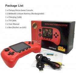 Nostalgic mini φορητή κονσόλα παιχνιδιών 400 σε 1 FC 3 ιντσών έγχρωμη οθόνη Tetris Con συνδέεται στην οθόνη της τηλεόρασης