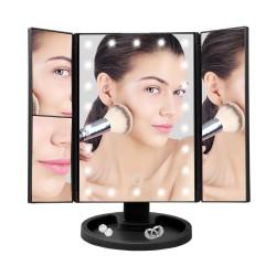 Τριπλός καθρέφτης μακιγιάζ με LED με οπίσθιο φωτισμό και μεγέθυνση Superstar Magnifying Mirror