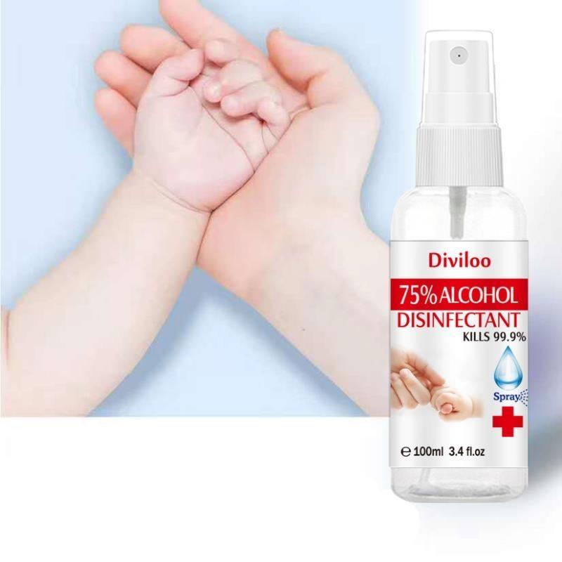 Αντισηπτικό spray Χεριών 75% Αλκοόλη με Βιταμίνη E 100ml Diviloo DISINFECTANT