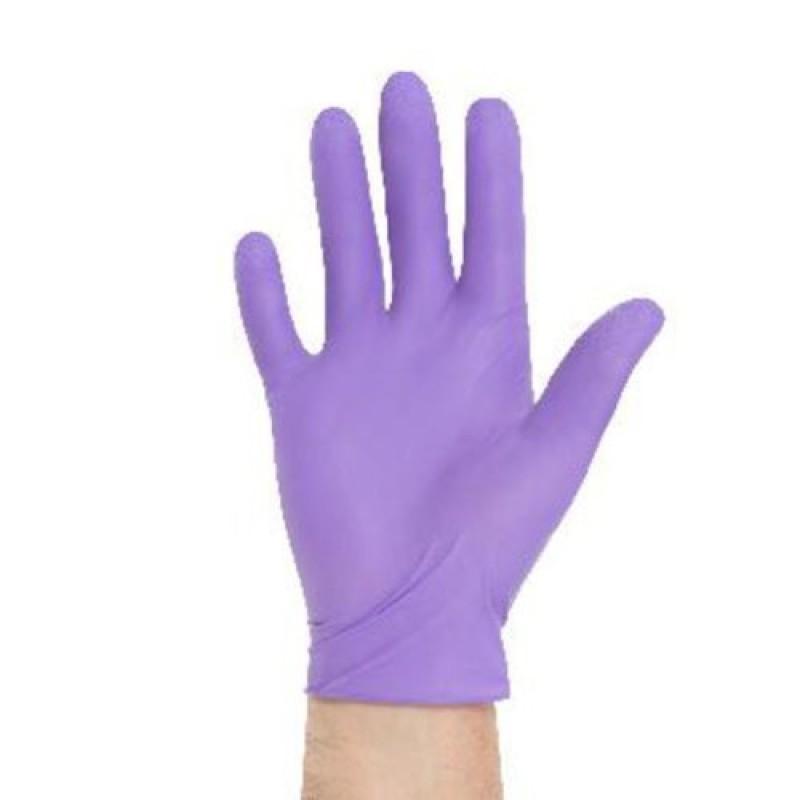 Γάντια Νιτριλίου Μωβ χωρίς πούδρα- 100τεμ.