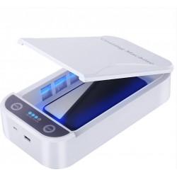 UV Sterilizer Phone Disinfection Box Αποστειρωτής Κινητών, Κοσμημάτων κλπ. - Άσπρο Χρώμα OEM