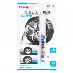 Αδιάβροχο στυλό ελαστικών αυτοκινήτου Tire Beauty Pen White