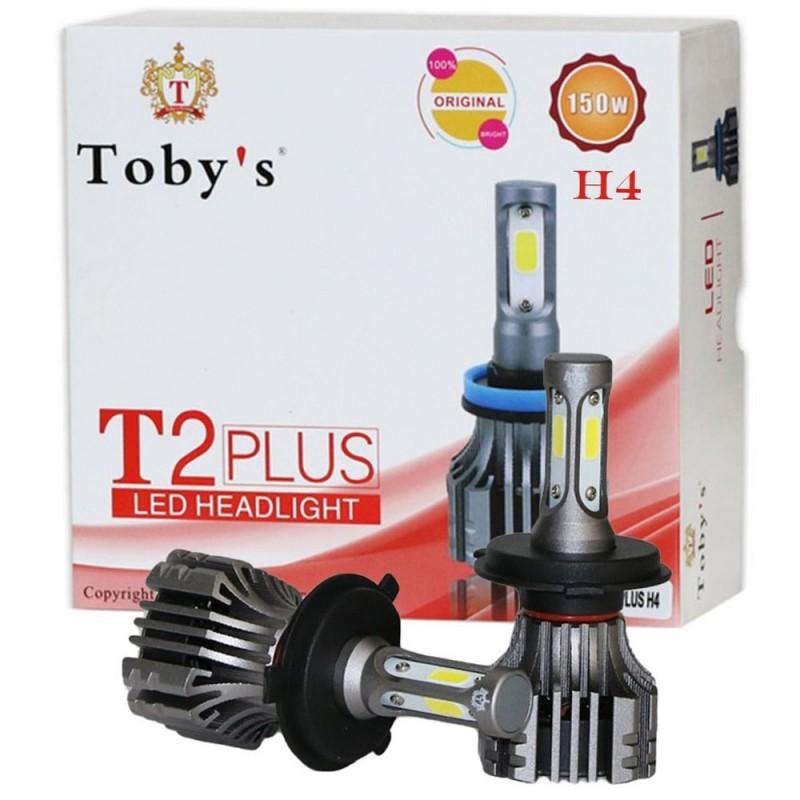 Λάμπες αυτοκινήτου σετ 2 τεμαχίων H4 T2 Plus LED 150W 15000L 6500 Κ