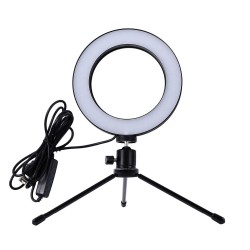 Φωτιστικό Δαχτυλίδι LED 20cm με Τρίποδο Professional Live Stream Light