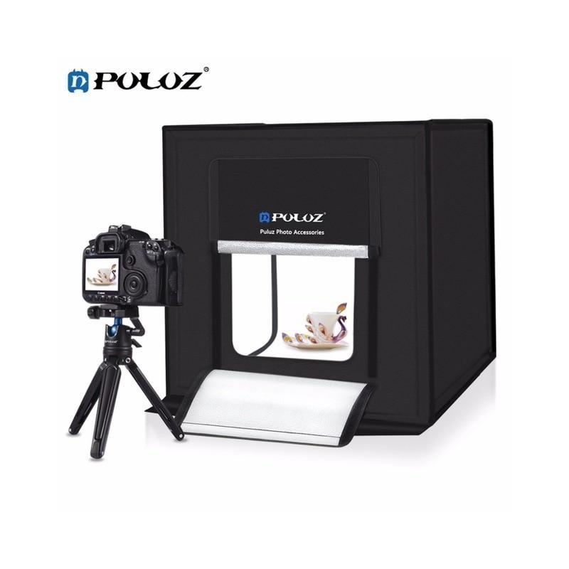 Photo box Aναδιπλούμενο PULUZ 60x60cm με ενσωματωμένο φωτισμό LED