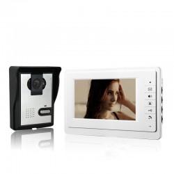 """Θυροτηλεόραση και Σύστημα εσωτερικής ασφάλειας με Κάμερα Υψηλής Ευκρίνειας και Night Vision με έγχρωμη οθόνη LCD 7"""""""