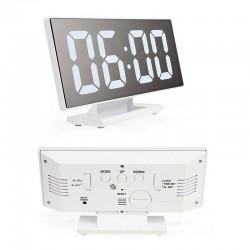 Ψηφιακό Led Ρολόι καθρέπτης DS-3618L Λευκό