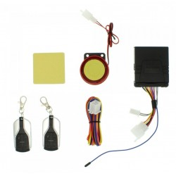 Πλήρες Σύστημα Συναγερμού Μοτοσυκλέτας Okazaki με Σειρήνα, Immobilizer & Remote Start και 2 Τηλεχειριστήρια