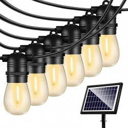 Αδιάβροχες Διακοσμητικές Λάμπες 48ft/15 LED Εξωτερικού Χώρου Με Κουρτίνα