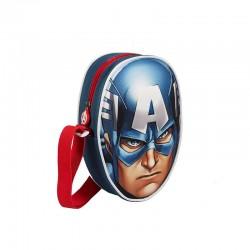 Τσάντα 3D Captain America (Εκδικητές) Μπλε