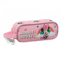 Κασετίνα Minnie Mouse ουράνιο τόξο ροζ