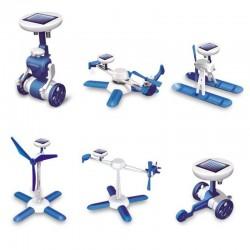Εκπαιδευτικό Ηλιακό Robot Kit 6 σε 1 - Χρώμα Μπλε