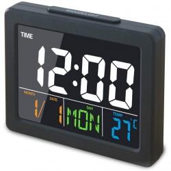 Επιτραπέζιο Ψηφιακό Ρολόι Μαύρο GH-2000WJ