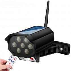 HS-V79 Ομοίωμα ψεύτικη κάμερα ασφαλείας Ηλιακής Φόρτισης με LED φωτισμό